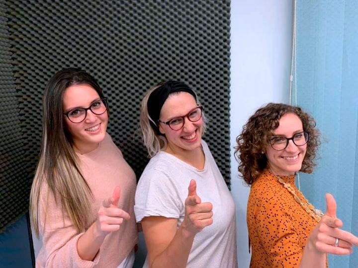 A la de 3. Jucal Radio. Laura Blanco, Laura Laguna y Mª Eugenia García